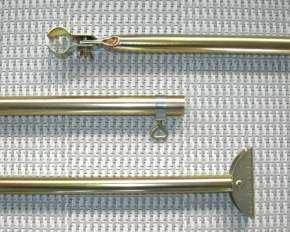 Piper Orkanstütze mit Bügelfuß Stahl 25 mm 125-205 cm