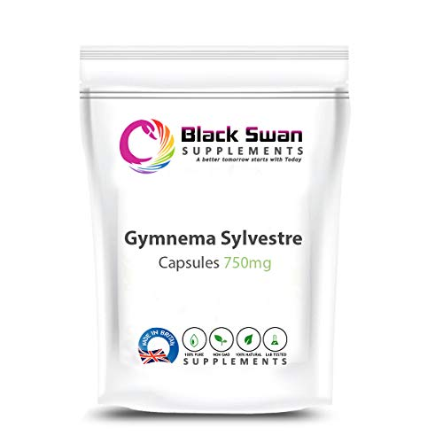 Black Swan Gymnema sylvestre 750 mg Veg Capsules Supplement – Promote Weight Loss – favourable Insulin Levels. (120 Caps)