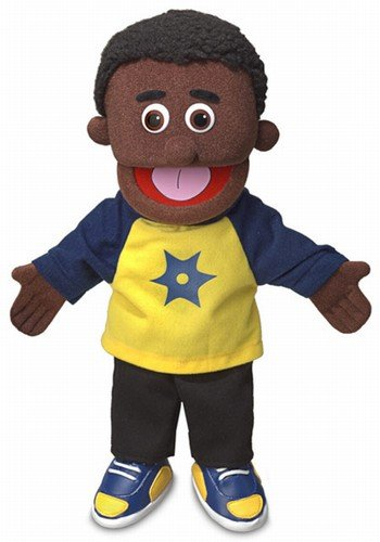 14' Jordan, Black Boy, Hand Puppet