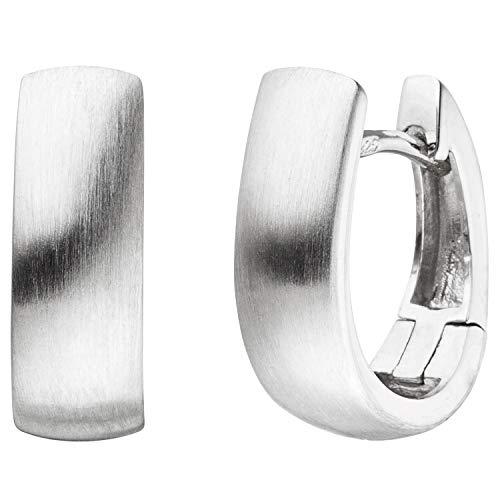 JOBO Damen-Creolen oval aus 925 Silber matt