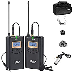 top rated Comica CVM-WM100 UHF 48 Channel Professional Omnidirectional Wireless Lavalier Microphone System… 2021