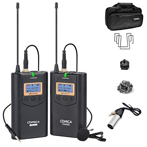 Comica CVM-WM100 UHF 48 Channels Professional Omnidirectional Wireless Lavalier...