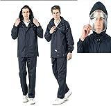 QinnLiuu Pantalones Impermeables Gruesos De Lluvia Doble Divididos Impermeables Impermeables para Hombres Y Mujeres, Adecuados para Acampar/Viajar/Escalar Montañas,1,XXL