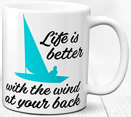 Segeln Kaffeebecher Segelboot Sailor Geschenk 330 ml Keramik Tasse Seemann Segeln Liebe