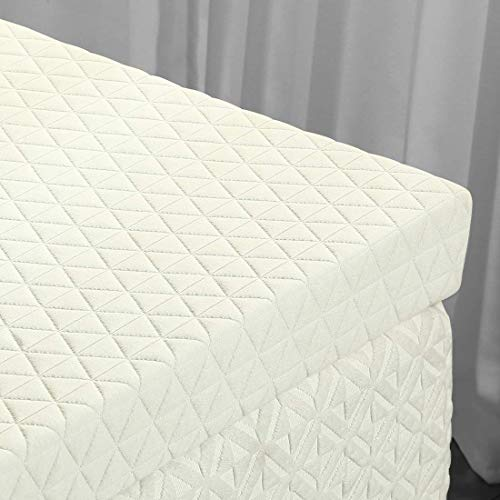 EMONIA 3 inch Memory Foam Mattress Topper - Foam Mattress Topper with Bamboo Cover (Removable Hypoallergenic and Soft) …