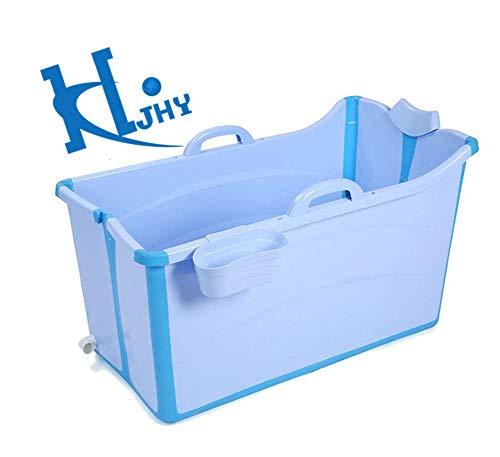 Bañera Plegable,/bañera portátil, bañera Grande, Piscina para niños, Familiares para niños, PVC ecológico (Azul, Rosa)