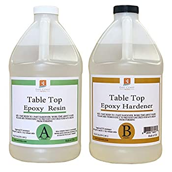 Table TOP EPOXY Resin 2 Gallon Kit for Super Gloss Coating