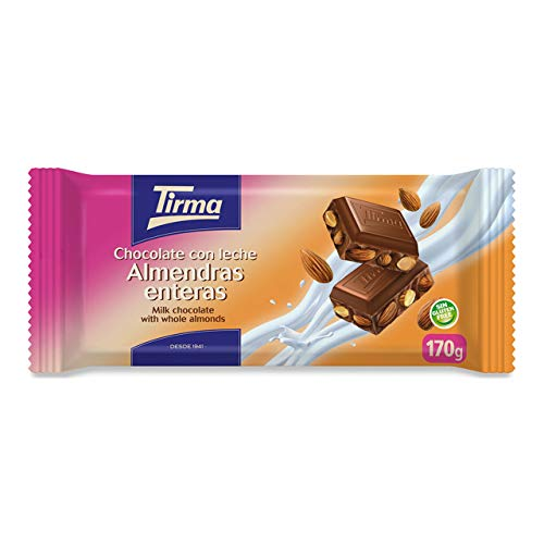 Tirma Chocolate con Leche y Almendras Enteras, 170g