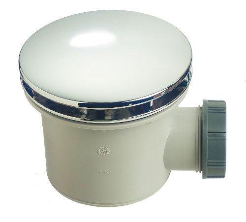 Wirquin 30721197 - Piletta per doccia per piatto doccia, diametro 90 mm, in ABS cromato