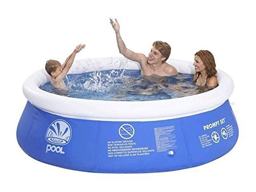 Hillington Round Inflatable Swimming and Paddling Pool Fast Prompt Set Summer Fun (8ft)