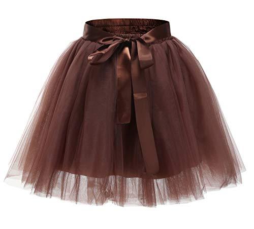Mädchen 7 Schichten Knielang Tüllrock Tutu Tüll Kleid Rock Reifrock Abendrock
