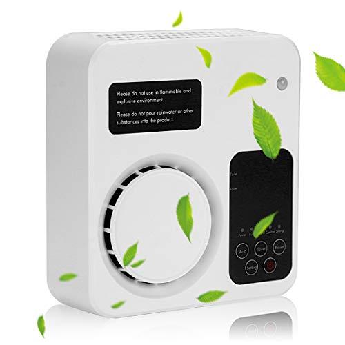 TREKOO Luftreiniger Hause Luft Ionisator Ozongenerator Geruchsentferner Deodorant für Schlafzimmer Wohnzimmer Toilette Büro (Weiß)