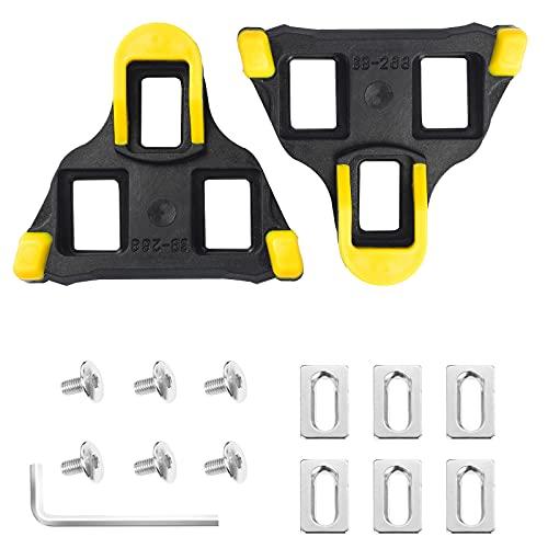Pedales de Bicicleta Cleat para Zapatos de Sistema SPD-SL -6 Grados Flotador para Interior al Aire Libre Bicicleta de Carretera Conjunto de Tacos de Ciclismo Equipo