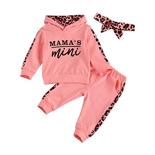 Neugeborenen-Outfits, 2-teilig, Hoodie, Langarm-Pullover mit Kapuze, lange Hose, Blumen, lange Hose, für Mädchen, Frühling Sommer Gr. 92, D-pink