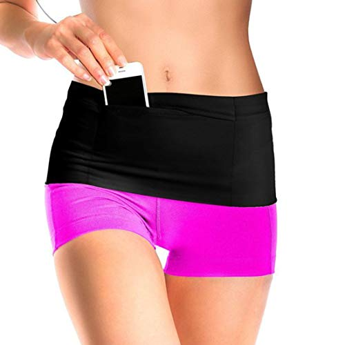 Hardlopen Sport Taille Pack 2-delige Set voor Vrouwen Mannen Fitness Riding Pocket Riem, Kan Accommoderen Grote Maat Mobiele telefoon, Portemonnee, Sleutel, Etc L