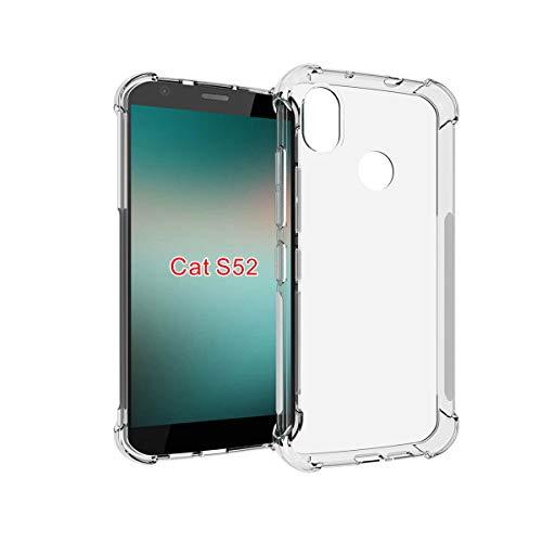 DQG Anti-Fall Schutzhülle für Cat S52 Hülle, Weiche Flexibel Handytasche Transparent TPU Handyhülle Silikon Tasche Schale Hülle Cover für Cat S52 (5.65
