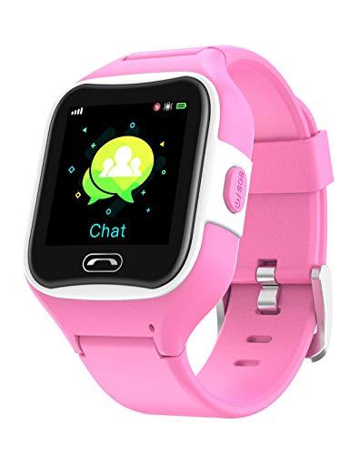 Reloj teléfono y localizador GPS para niños V2 (Rosa)