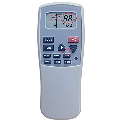 YING RAY Replacement for Soleus Air Air Conditioner Remote Control LX-100 LX-100BL LX-120 LX-120BL LX-140 LX-140BL PH5-12R-32S PH5-13R-35S PH5 Series PH5-13R-35D PH5-13R-3D PH5-13R-32D PH5-13R-35
