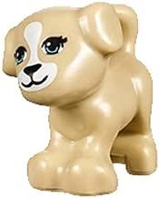 LEGO NEW FRIENDS TAN DOG Animal Pet shop Minifigure Minifig Figure Cute Doggy puppy boy girl