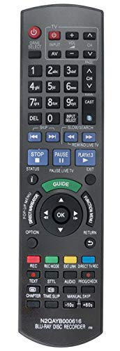 ALLIMITY N2QAYB000616 Fernbedienung Ersetzt für Panasonic Blu-ray Disc Recorder DMR-BST701 DMR-BST700 DMR-BST800 DMR-BWT800