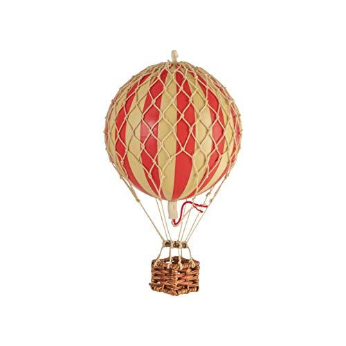 Authentic Models Floating the Skies Hot Air Balloon Replica, Colour: Red