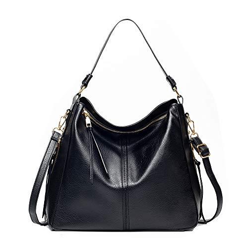 Bolso bandolera para mujer, para el aire libre, el tiempo libre, sencillo y versátil, bolso de moda, materiales de piel, gran capacidad, bolso de la compra