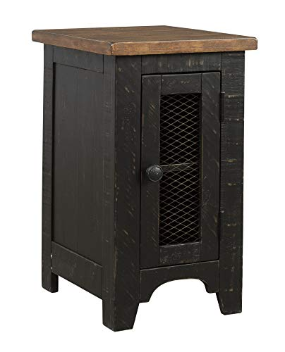 Signature Design by Ashley Valebeck Chair Side End Table Black/Brown
