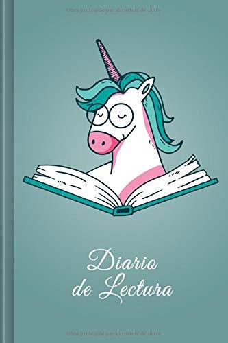 Diario de Lectura: Book Journal a completar | para todos los amantes de los gusanos de libros y de la literatura | Motivo: Unicornio verde