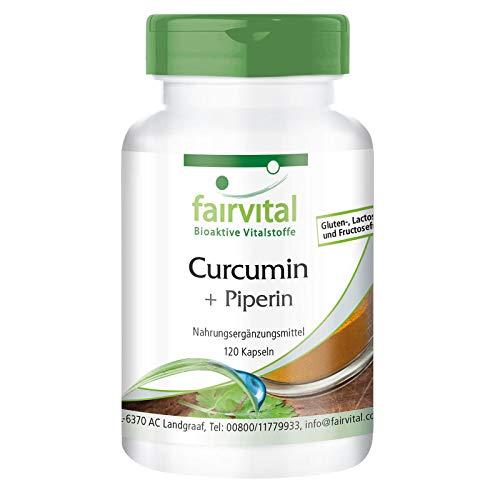Kurkuma Kapseln - 500mg Curcuma Extrakt pro Kapsel - HOCHDOSIERT - Curcumin 95{7dd25dfadbfc48e8c20e35cdbd44c89413321c01f2a19ed8653545b3e10caddf} mit Bioperin (Piperin) - 120 Kapseln