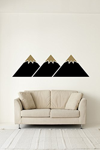 EG/_ Geometric Triangle Mountain Tree Mural Wall Sticker  Background Decal New Tr