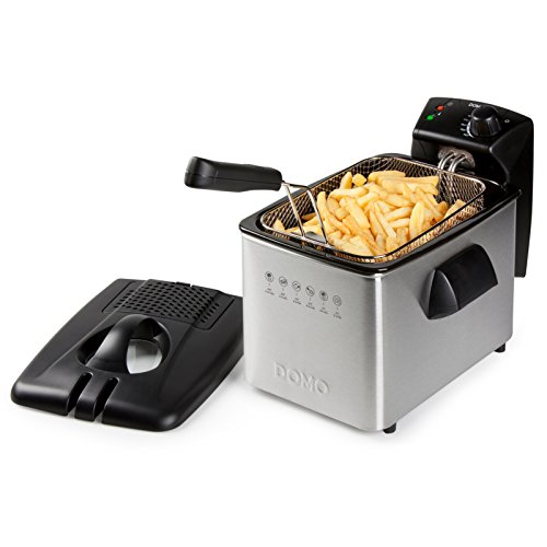 Domo DO465FR Stainless Steel Deep Fryer, 3000 W, 4 liters