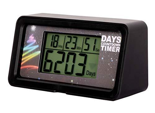 NINE-RONG – Countdown-Uhr/Timer, digital, für 9.999 Tage, mit LCD Hintergrundbeleuchtung, Countdown zu Ruhestand, Hochzeit, Urlaub, Weihnachten, Ereignis, für Klassenzimmer, Küche, Kochen