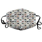 Nicegift Farmhouse Kuh Gesichtsmasken Atmungsaktiv Staubfilter Masken Mundschutz Masken mit elastischer Ohrschlaufe