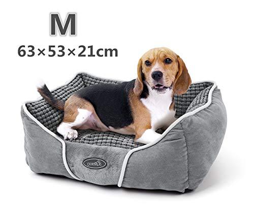 Pecute Letto per Cani Cuccia Gatto Peluche Ultra-Morbido Rettangolare Lavabile in Lavatrice (M)