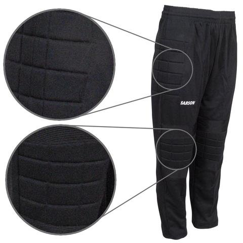 Goalie Pants with Padded Hips and Knees - 100% Comfortable and Breathable Polyester Goalkeeper Pants Unisex - Abrasion, Cut and Bruise Protection for Sports Training & Competitions (Y-Large)