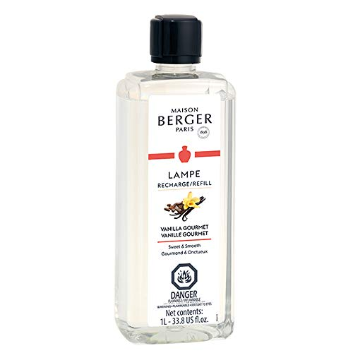 Vanilla Gourmet | Lampe Berger Fragrance Refill for Home Fragrance Oil Diffuser | Purifying and perfuming Your Home | 33.8 Fluid Ounces - 1 Liter | Made in France