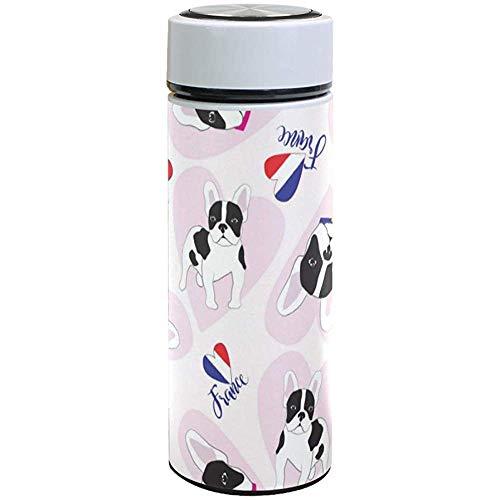 Thermos-Bulldog France Flag Botella De Agua De Acero Inoxidable Vaso con...