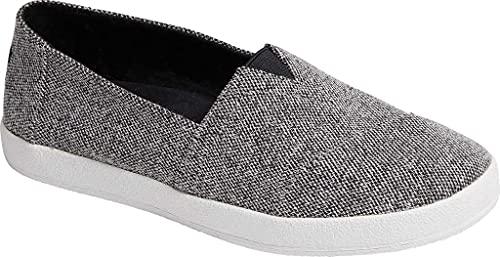 TOMS Women's Avalon Repreve Slip On Shoe Black Repreve Soft Heathered Knit 6.5 M