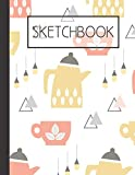 Pot and cup pattern Sketchbook: 200 Page Sketchbook: Artist Edition (8.5x11)