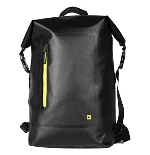 Manillar de la bici del bolso, mochila a prueba de agua 20L bolsa de gran capacidad delantera de la bicicleta multifunción completa bolsa mochila plataforma trasera accesorios de ciclismo,Amarillo