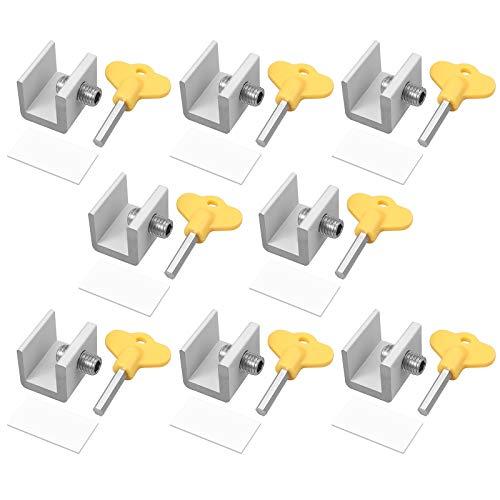 Neoteck 8x Cerraduras de Seguridad para Ventanas Deslizantes