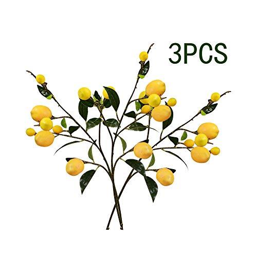 Takefuns Künstlicher Zitronenstrauß, künstlicher Zitronenbaum, künstlicher Zitronenkranz, künstliche Zitronenzweige für Zuhause, Garten, Party, Büro, Dekoration