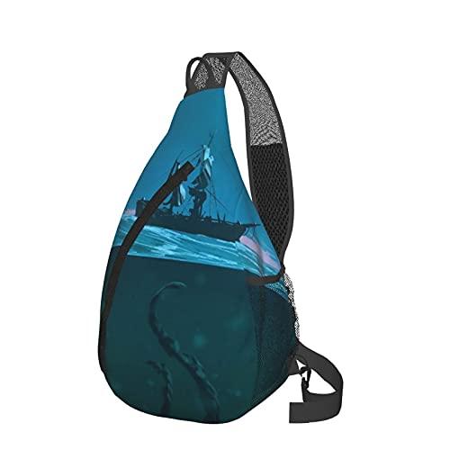Mochila de viaje senderismo Daypack 3D gráfico impreso Crossbody bolso de hombro, color, talla Talla única