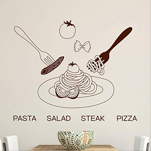 Muurstickers Pizza Pizza Salade Creatieve Stickers Raamdecoratie Stickers Glazen Deur Stickers