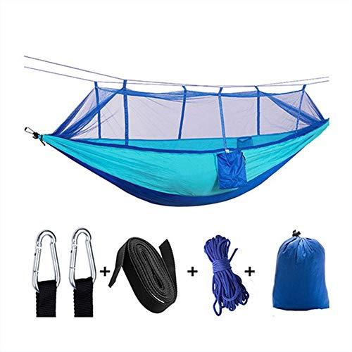 YANGSANJIN Hamac de Camping Double, hamac de Parachute en Nylon Portable léger, pour la randonnée, Les Voyages, la Cour, Jaune