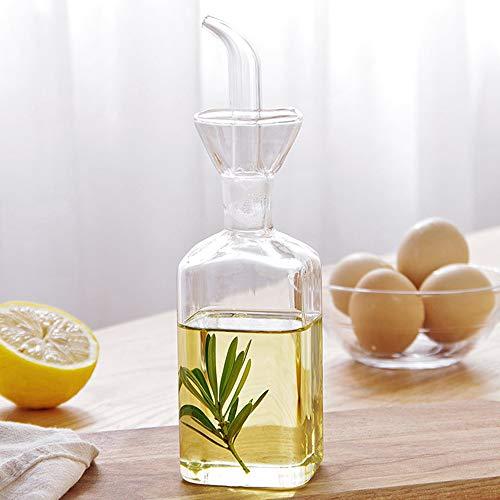 Ölflasche Glas Olivenöl Spender Flasche Glas Kochen Öl Essig Dosierer mit Ausgießer für Küche und Grill, S