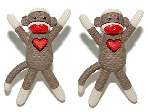 Adorable Sock Monkey Stud Earrings (S048)