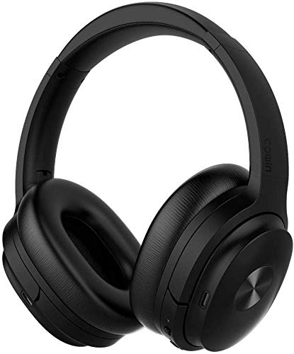 COWIN SE7 Active Noise Cancelling Headphones with Alexa Voice Control, Bluetooth Headphones Wireless Headphones Over Ear with Microphone, 30 Hours Playtime for Travel/Work, Black