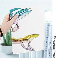 カスタム IPad 2 3 4 ケース オートスリープ機能Ornamentalsとイルカの図抽象芸術水生動物イラスト画像
