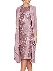 Lilac Gray Lace Dress With Rhinestone Belt & Chiffon Jacket